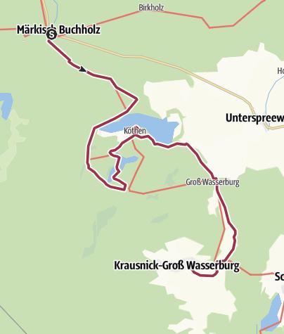 Karte / Heideseen, Wehlaberg und Unterspreewald