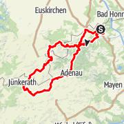Karte / Eifel Motorradtour: Mühle, Mehl und Senf