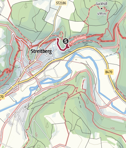 Karte / Wiesenttal-Trail_Alternativ-Abstieg Streitberg Muschelquelle