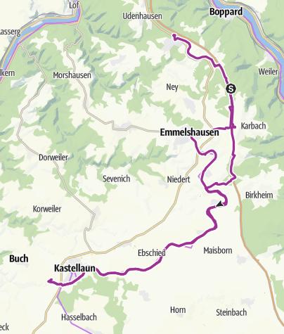 Karte / Radweg an der A61