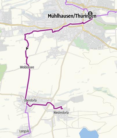 Map / Unstrutradweg - Opfermoor Niederdorla