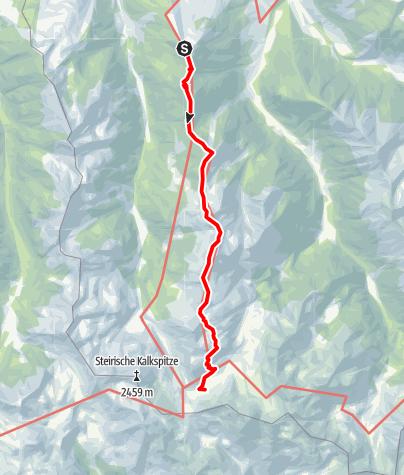 Karte / Hochwurzenhöhenweg zu den Giglachseen (1. Etappe 5-Tages-Tour)