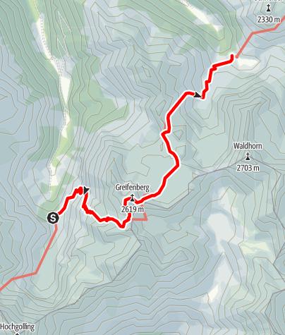 Karte / Über den Klafferkessel zur Preintalerhütte (4. Etappe 5-Tages-Tour)