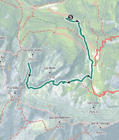 Map / Rifugio Vallaccia e Cima Undici seguendo la Val Monzoni