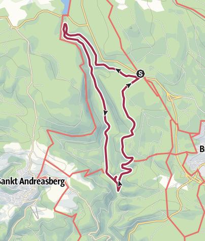Karte / Rundtour Königskrug - Rinderstall