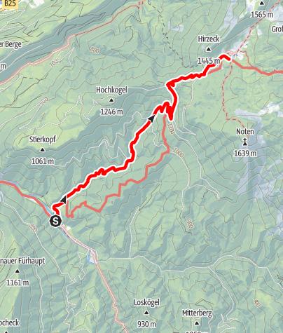Map / Steinbach - Ybbstalerhütte via alter Auftriebsweg