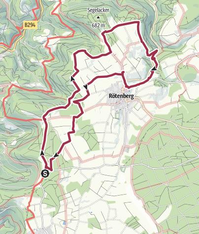 Karte / Rötenberger Heimatrunde