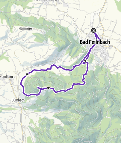 Karte / Trailrun Schwarzenberg (über Straße)