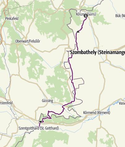 Iron Curtain Trail - Etappe 5: Kőszeg - Felsorönök ...