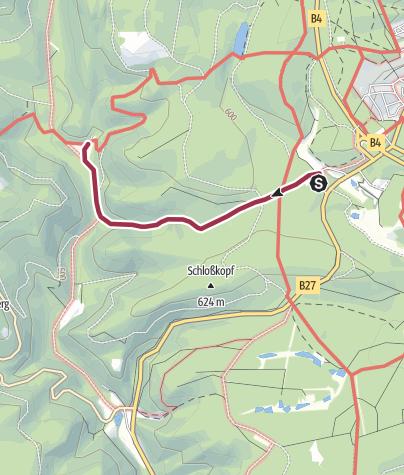 Karte / Von der Waldmühle zum Rinderstall