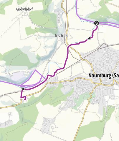 Map / Unstrutradweg - Stiftung Kloster Pforta