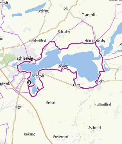 Karte / Schleirunde über Haithabu