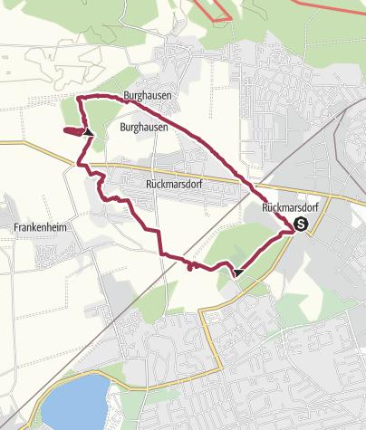 Map / Hundewanderung vom Saale-Leipzig-Kanal durch den Bienitz und über die Schönauer Lachen zurück