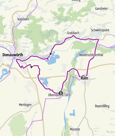 Karte / Oberndorf - Marxheim-Donauwörth- Hamlar- Oberndorf