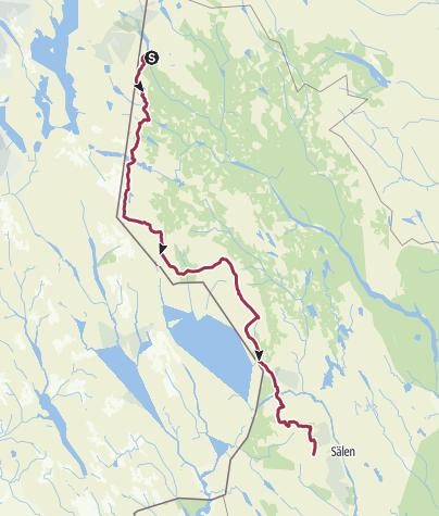 Map / Grövelsjön - Högfjället