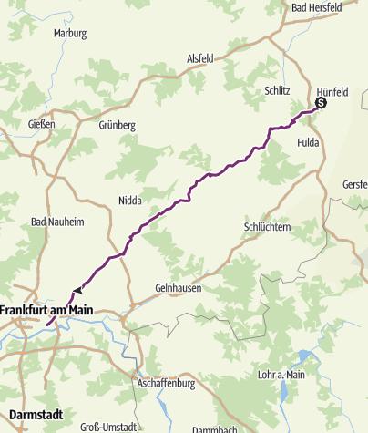 Map / Etapa 4 - Hünfeld (bei Fulda) - Merianplatz (FRA)