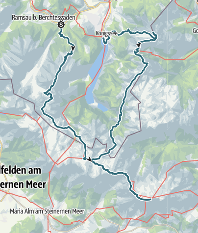 Map / Watzmann - Hochkönig - Wasseralm - Schneibstein - Hoher Göll