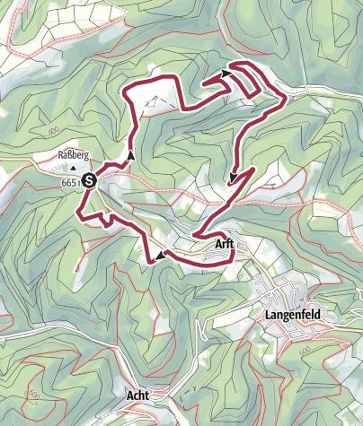 Karte / Historischer Schulweg Arft
