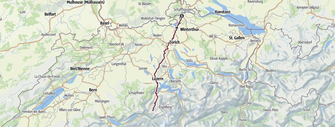 地图 / Sommerwanderung 2018