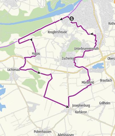 Karte / 24. Juli 2018 Ingoradler Radifest Tour