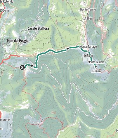 Map / Da Pej al Monte Lesima