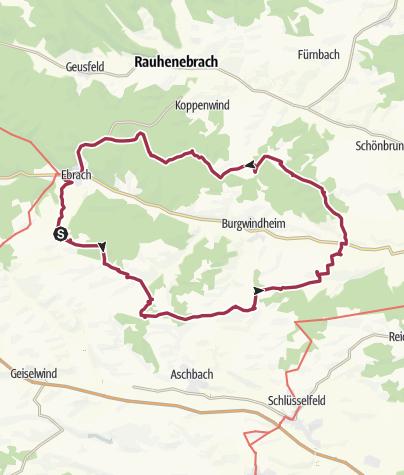 Karte / Die Große Südtour - Trekkingerlebnis Steigerwald