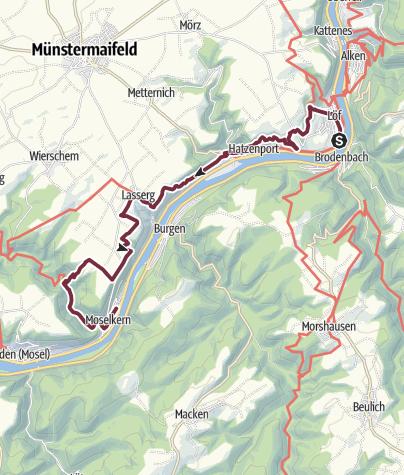 Karte / Moselsteig 4: Von Löf nach Moselkern