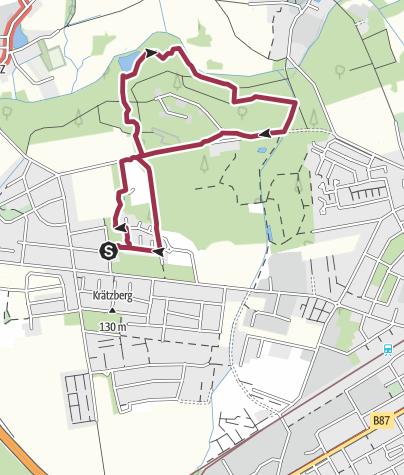 """Map / Cradefeld/ Plaußig-Portitz- eine Hundewanderung durch einen """"Kraterwald"""" ;-)"""