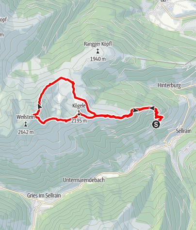 Karte / Roßkogel (2649 m) Überschreitung von St. Quirin