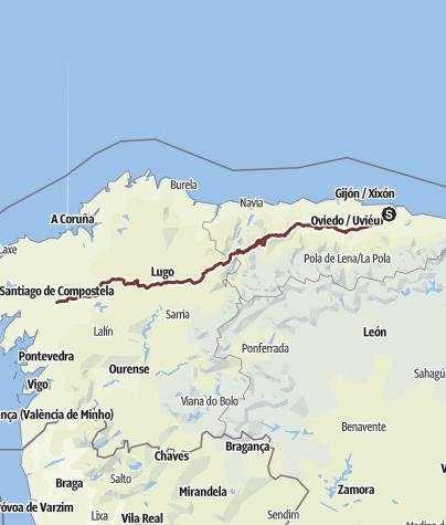 Karte / Jakobsweg Camino Primitivo - Der ursprüngliche Jakobsweg