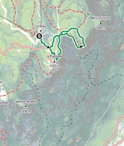 Cartina / Via Ferrata delle Aquile - Paganella