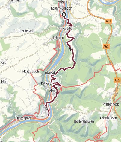 Karte / Moselsteig 3: Von Kobern-Gondorf nach Löf
