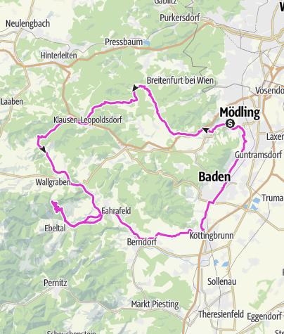 Map / Tour de Wienerwald July 28, 2018