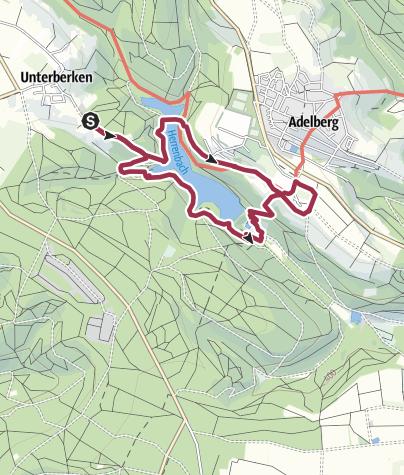 Karte / Wanderung Unterberken-Adelberg-Herrenbachstausee