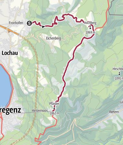 Map / Halbenstein - Hochberg - Pfänder