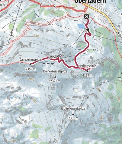 Karte / Herbertspitze - Gamsleitenspitze