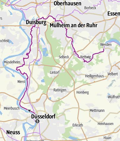 Düsseldorf Karte.Radtour Düsseldorf Duisburg Essen Werden Radtour