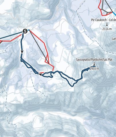 Karte / Skitour Plattkofel