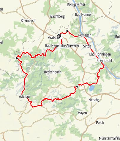 Karte / Eifel Motorradtour: Wasser, Felsen, Kurven