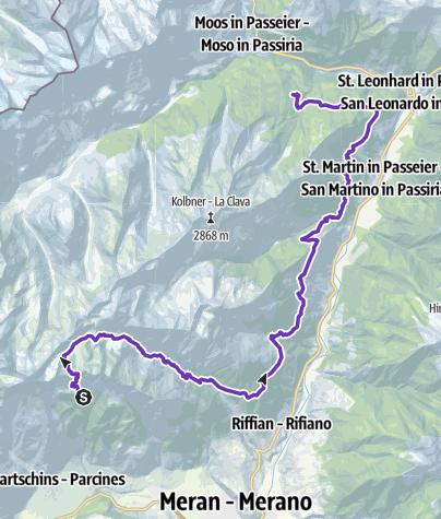 Karte / Hochganghaus - Ulfas über Hochgangscharte
