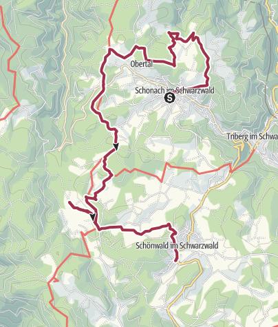 Map / Schonach - Wandererlebnis Kapellenweg - Tour 1
