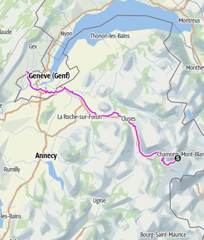 Karte / Etappe 3: Chamonix Genf