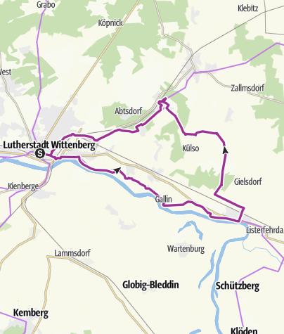 Karte / Elster/Bülzig
