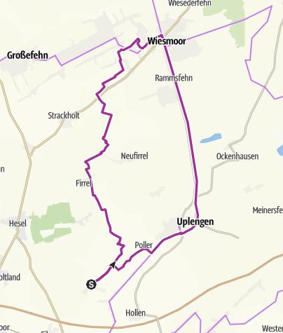 Karte / Ostfriesland: Lammertsfehn-Firrel-Wiesmoor-Remels-Lammertsfehn
