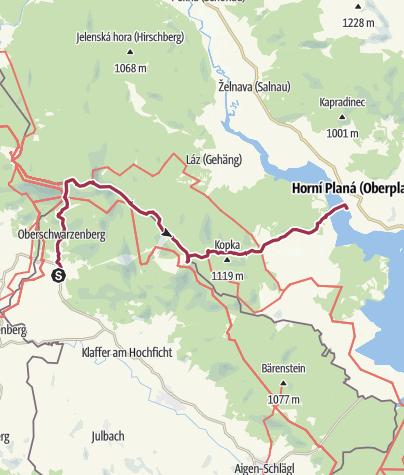 Karte / Grenzwanderung Tschechien Etappe 101