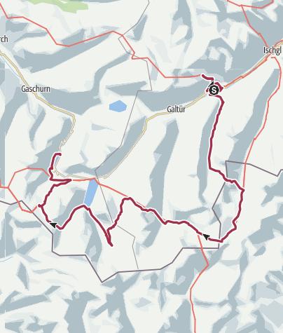 Map / Silvretta Huttentocht 2018