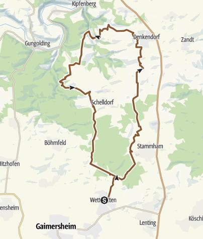 Karte / Wettstetten Denkendorf Birktal Wetts