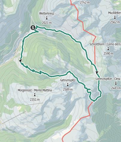 地图 / Lago Valdurna/Durnholzer See - Cima S. Cassiano/Kassianspitz