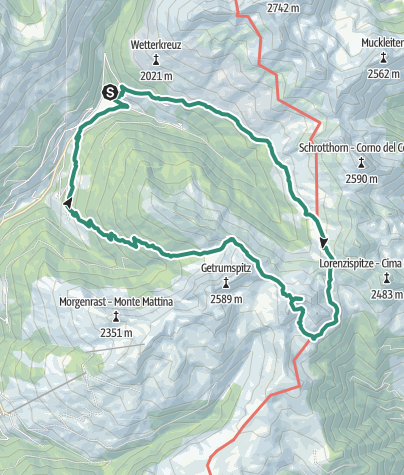 Карта / Lago Valdurna/Durnholzer See - Cima S. Cassiano/Kassianspitz