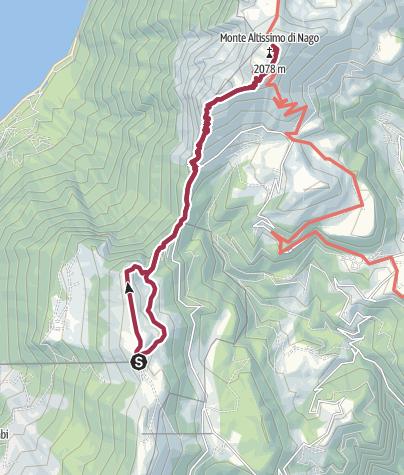 Karte / 5.4 Monte Baldo - auf den Altissimo di Nago